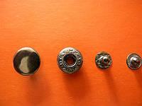 Кнопка 15мм( китай) цвет темный никель(1000 штук)