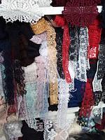 кружево бант вышитое, для пошива и декора одежды