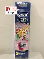 Насадки для зубных щеток Oral-B Stages Power (принцесса) 3шт, фото 1