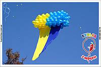 Запуск шаров в небо, Флаг Украины, фото 1