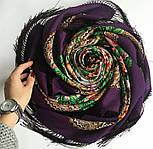 Родниковый край 1835-15, павлопосадский платок шерстяной с шелковой бахромой, фото 6