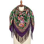 Родниковый край 1835-15, павлопосадский платок шерстяной с шелковой бахромой, фото 2