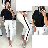 Женские брюки с лампасом , фото 1