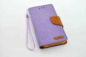 """Чехол-книжка 4you Canvas 3,5""""- 4"""" violet/brown универсальная ТОП Продаж!"""