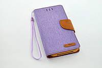 """Чехол-книжка 4you Canvas 4,5""""- 4,8"""" violet/brown универсальная ТОП Продаж!"""
