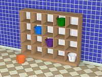 Шкаф детский для горшков (1500*300*1205h)