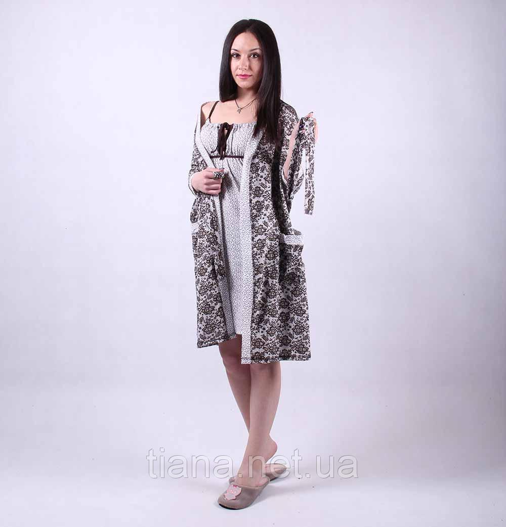 a40fdb2fd94b5 Женский комплект халатик и ночная сорочка,для беременных и кормящих мама