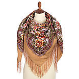 Родниковый край 1835-1, павлопосадский платок шерстяной с шелковой бахромой, фото 2