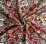 Джерельний край 1835-1, павлопосадский вовняну хустку з шовковою бахромою, фото 3