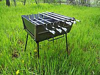 Складаний Мангал чемодан на 6 шампурів, товщина 2мм, ручка для перенесення, компактний, фото 1