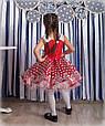"""Детское нарядное бальное платье """"Горох"""" в красном цвете, фото 2"""
