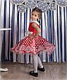 """Детское нарядное бальное платье """"Горох"""" в красном цвете, фото 3"""