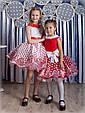 """Детское нарядное бальное платье """"Горох"""" в красном цвете, фото 4"""