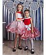 """Детское нарядное бальное платье """"Горох"""" в красном цвете, фото 5"""