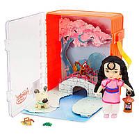 "Набор Disney Кукла Мулан мини аниматор Disney Animators"" Collection Mulan Mini Doll Playset"