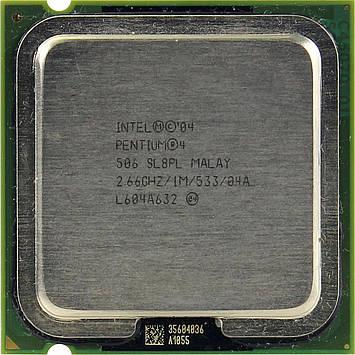 Процессор Intel Pentium 4 506 2.66GHz/1M/533 (SL8PL) s775, tray