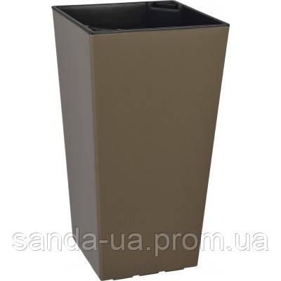 Вазон ELISE коричневый глянцевый 411139072