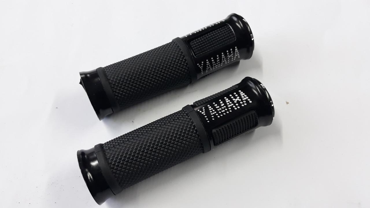 Ручки руля с алюм. отбойником (черные) (mod:Yamaha) GJCT