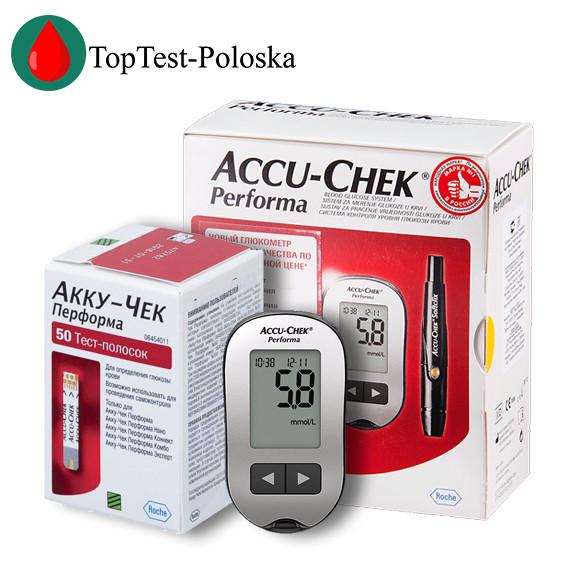 Глюкометр «Акку Чек Перформа» Accu Chek Performa + 50 тест-полосок