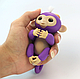 Wowwee Fingerlings Интерактивная ручная обезьянка Mia (фиолетовая), фото 2