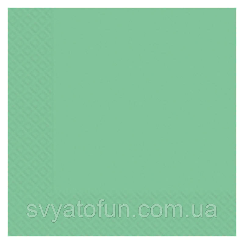 Салфетки однотонные, бирюзовые, 33 х 33 см, (20шт./уп)