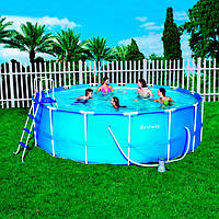 Каркасный бассейн Bestway 56100 (∅ 4,6 м, круглый)