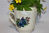 Универсальная чашка в голубых цветах