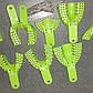 Ложки оттискные пластмассовые зеленые с перфорацией (1 уп. - 10 разных ложек)., фото 5