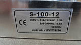 Блок живлення для світлодіодних стрічок 12 V / 100 W не герметичний, фото 5