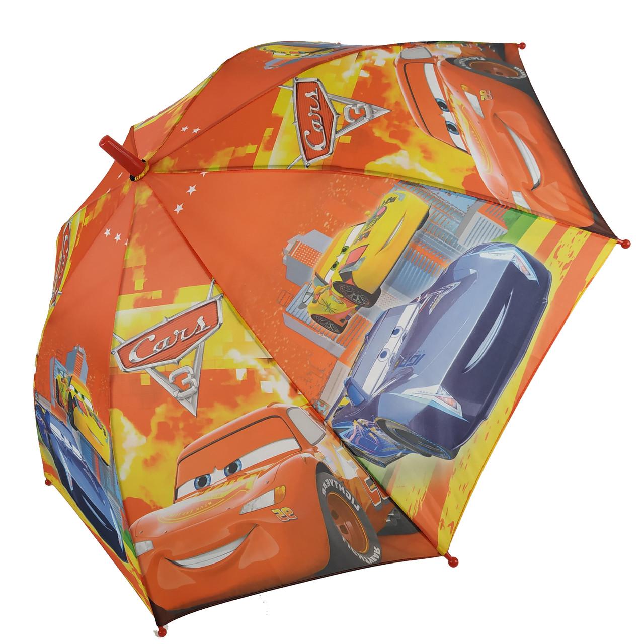 """Дитячий парасольку-тростину """"Тачки-Маквін"""" зі свистком для хлопчика від Max, помаранчевий, 009-3"""