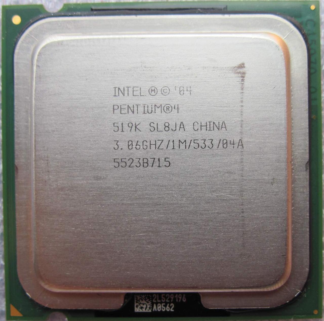 Процессор Intel Pentium 4 519K 3.06GHz/1M/533 (SL8JA) s775, tray