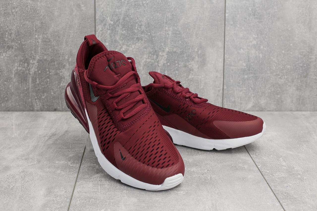 9de86193 ХИТ СЕЗОНА Кроссовки Nike AirMax 270 (весна/осень, мужские, текстиль,  бордово-белый