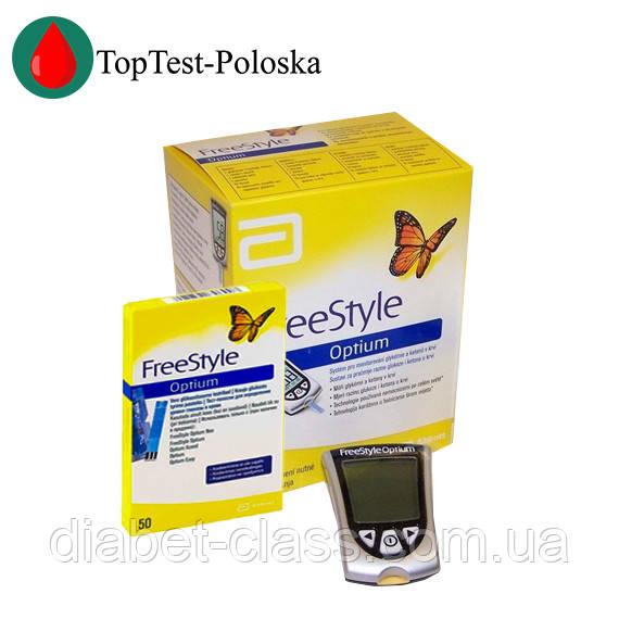 Глюкометр FreeStyle Optium (Фристайл Оптиум) + 50 тест-полосок