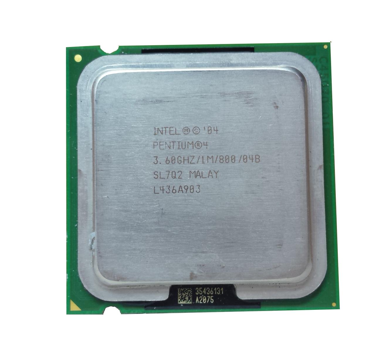 Процессор Intel Pentium 4 560 3.60GHz/1M/800 (SL7Q2) s775, tray