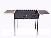 Мангал чемодан складной на 12 шампуров с двумя боковыми столиками, толщина 3мм - Фото