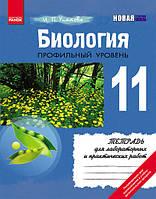 Биология Тетрадь для лабораторных и практических работ 11 класс (Профильный уровень)