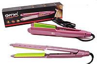 Утюжок щипцы гофре для завивки волос и объёма GEMEI GM-2957 керамика (40шт)