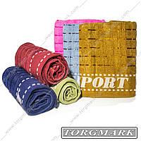 Полотенце банное махровое (SPORT) 70 х 140 см 6 шт в упаковке. Расцветки в ассортименте.