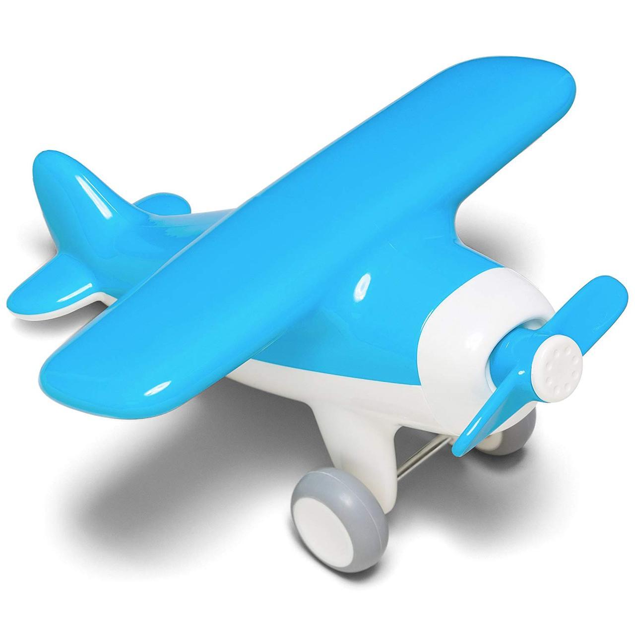 Первый самолет. Игрушечный самолет (цвет голубой) Kid O
