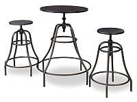 Стол обеденный деревянный Tango + 2 стула Signal черный