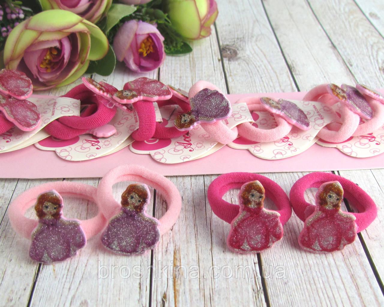 Детские маленькие резиночки для волос Принцесса София 10 пар/уп