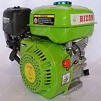 Двигатель бензиновый BIZON GX-220 170C 7.5 л.с. вал 20 мм шпонка (зеленый)