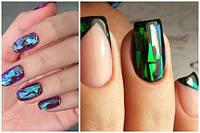Дизайн ногтей с Витражным гель лаком