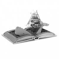Металлическая сборная 3D модель Moby Dick Book Sculpture, Metal Earth (MMS116)