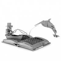 Металлическая сборная 3D модель The Old Man & The Sea Book Sculpture, Metal Earth (MMS117)