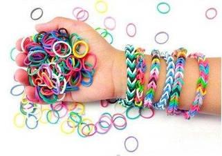 Резинки rainbow loom, loom bands наборы резинок для плетения браслетов