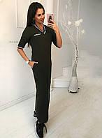 Спортивное трикотажное платье макси, фото 1