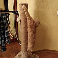Когтеточка для кошек круглая 100 см. Усиленная (Белого цвета), фото 1