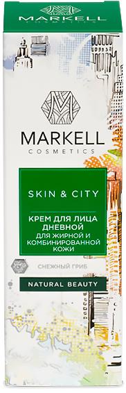 Крем для лица дневной для жирной и комбинированной кожи снежный гриб (50мл)