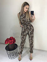 Женский леопардовый комбинезон эм233